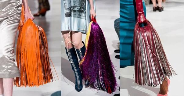 Túi tua rua các các tuần lễ thời trang