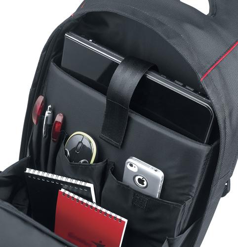Ngoài ngăn chống sốc, balo laptop cần có những ngăn phụ tiện ích