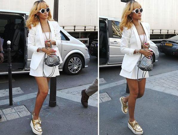 Cô nàng Rihanna xinh đẹp cùng chiếc balo channel sành điệu