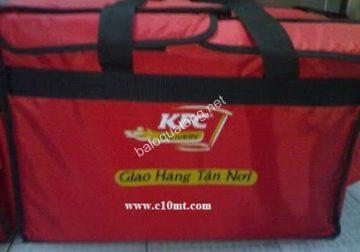 Túi giữ nhiệt giao hàng KFC sản phẩm tiện ích của Hợp Phát