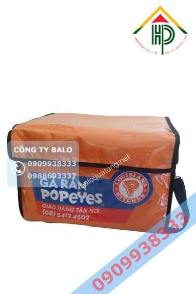 Túi giao hàng giữ nhiệt gà Popeyes sản phẩm của may Hợp Phát