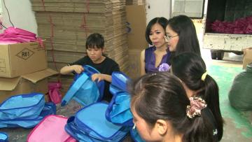 Cơ sở sản xuất balo, túi xách đồng phục học sinh uy tín