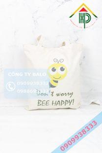 Túi vải canvas con ong