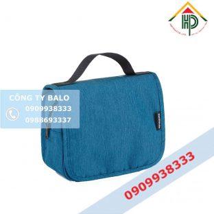 Túi đựng mỹ phẩm Hợp Phát xanh dương