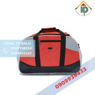 Túi xách du lịch đỏ đen