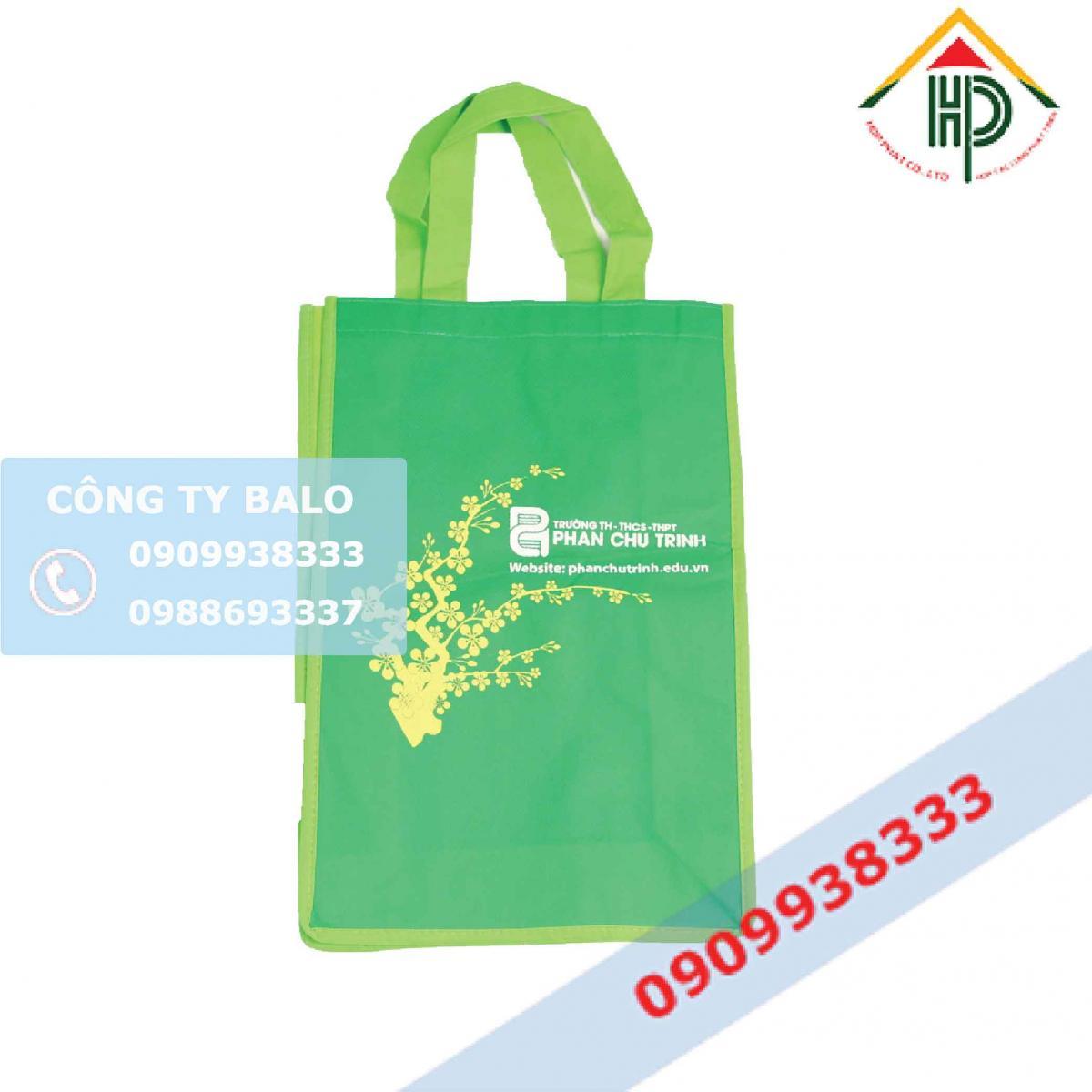 Túi vải không dệt trường Phan Chu Trinh (mẫu nhỏ)