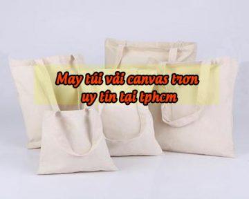 May túi vải canvas trơn giá rẻ chất lượng