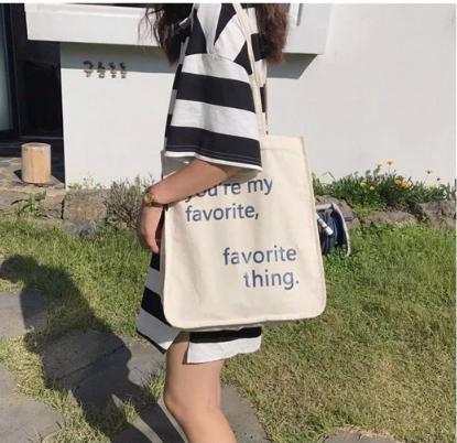 Túi xách Movie Girl Printing Rope Handle Shoulder Eco Bag