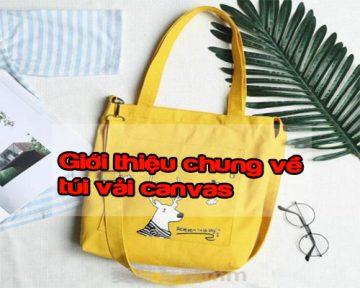 Túi vải canvas là gì? Giới thiệu chung về túi vải canvas
